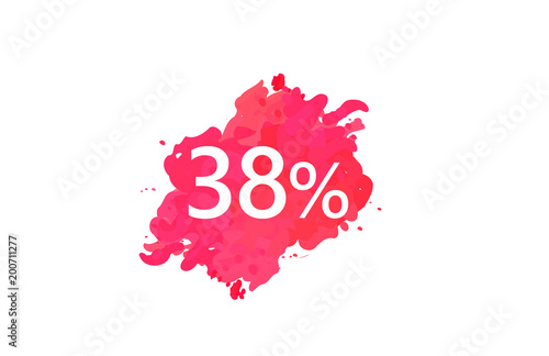 Poster  38 Percent Discount Water Color Design