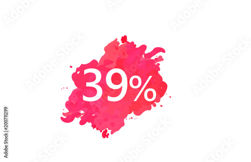 Poster 39 Percent Discount Water Color Design