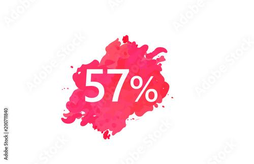 Fotografie, Obraz  57 Percent Discount Water Color Design