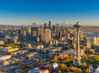 canvas print picture - Seattlescape - Aerial of Downtown Seattle