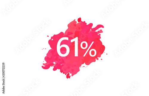 Poster  61 Percent Discount Water Color Design