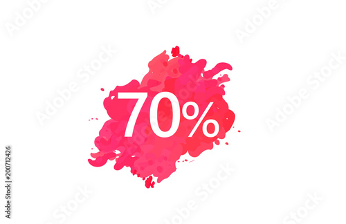 70 Percent Discount Water Color Design Poster