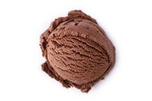 Chocolate Ice Cream Isolated O...