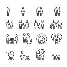 Vector Image Set Of Family Lin...