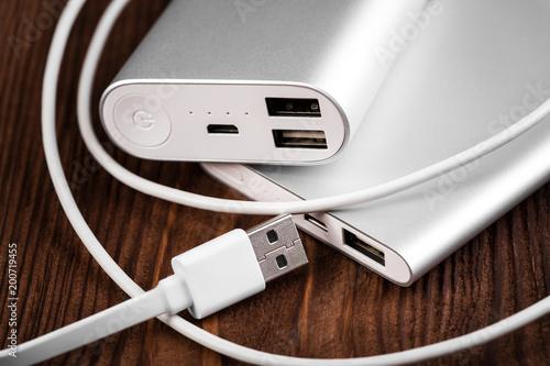 Fototapeta battery bank for charging mobile devices