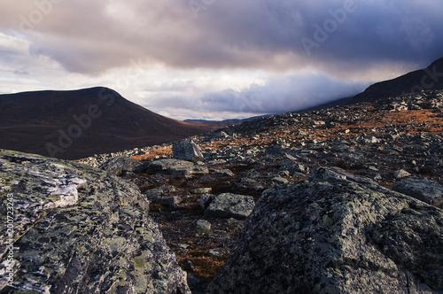 Keuken foto achterwand Zwart Mountainscape