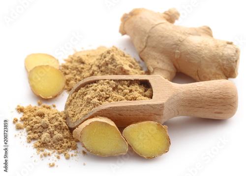Fototapeta Ginger with dried powder obraz