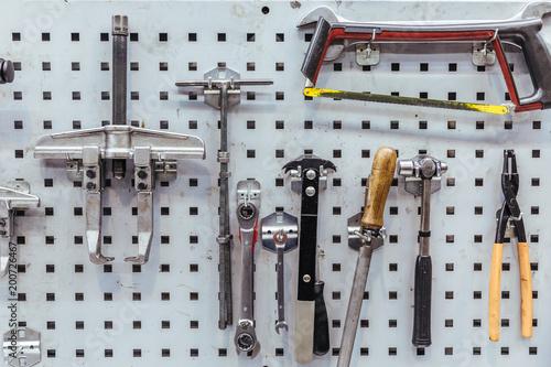 Tools of a mechanical workshop