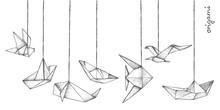 Origami - Decoration - 7 Gray ...