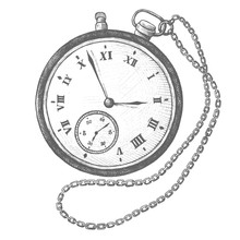 Pocket Watch Vintage Style Ill...