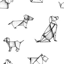 Origami - Seamless Pattern Wit...
