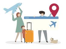 Illustration Of Family Travell...