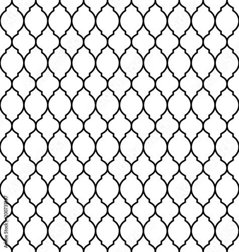 Photo  Vintage stylish trellis decorative seamless pattern, geometric background