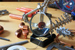 Tools and parts for soldering
