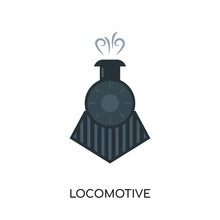 Locomotive Logo Isolated On White Background For Your Web, Mobile And App Design