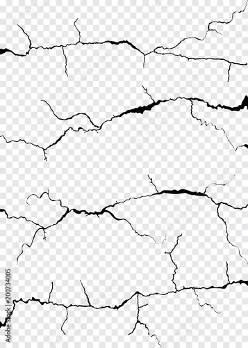 Fotomural  Wall Cracks Isolated