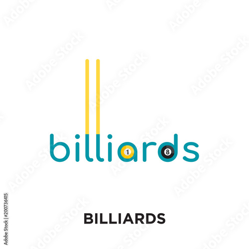 Tableau sur Toile billiards logo isolated on white background for your web, mobile and app design