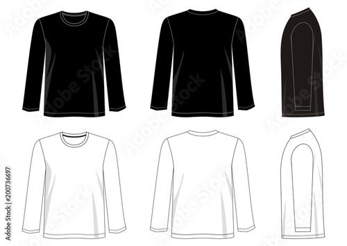 Fényképezés  vector design template t shirt collection for men with color black white blue re