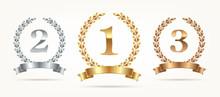 Set Of Rank Emblems - Gold, Si...