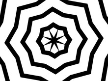 Pattern With A Poligonal Star In A Blck - White Colors