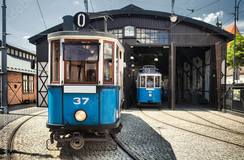 old-historic-tram-in-royal-city-cracow-in-poland