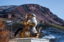 DOGUBAYAZIT - NOVEMBER 27: Traditional Tea Pot Set On November 27, 2016 In Dogubayazit, Eastern Turkey.