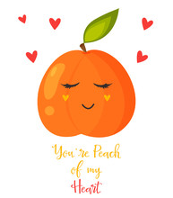 Bright Poster With Cute Sweet ...