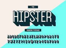 Hipster Modern Typeface 3d Sty...