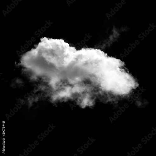 Foto op Plexiglas Hemel White clouds isolated over black background illustration