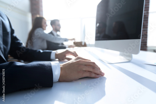 Foto op Plexiglas Picknick background image of a business meeting .