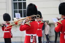 Guardsman Playing A Trombone