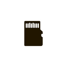 Sd Card Icon. Sign Design