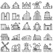 Building Icon set Government,Museum, Apartment, Bank, Built Structure, Church Icon