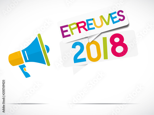 Foto mégaphone : épreuves 2018