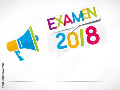 Leinwand Poster mégaphone : examen 2018