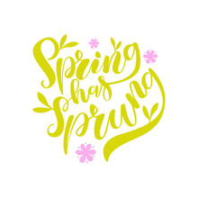 Spring Has Sprung Brush Letter...