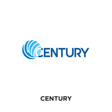 Century Logo Isolated On White...