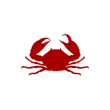 Vector Illustration Crab Red S...