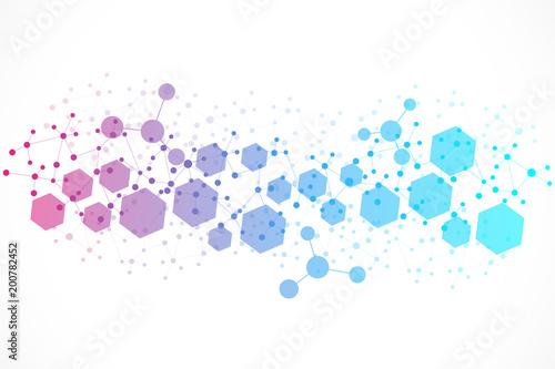 Carta da parati  Structure molecule and communication