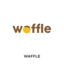 Waffle Logo Isolated On White ...
