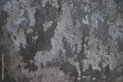 Foto auf AluDibond Alte schmutzig texturierte wand Grounge Gray cement Old Wall Texture Peeled Background