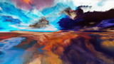 Światła abstrakcyjnego krajobrazu - 200788697