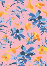 Allamanda Vintage Flower Patte...