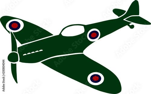 Spitfire World War Canvas Print