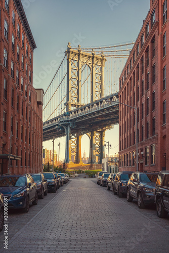 Cadres-photo bureau New York City View on Manhattan bridge from washington street in Brooklyn