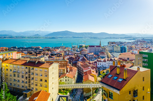Keuken foto achterwand San Francisco Aerial view of Santander taken from the upper funicular station, Spain