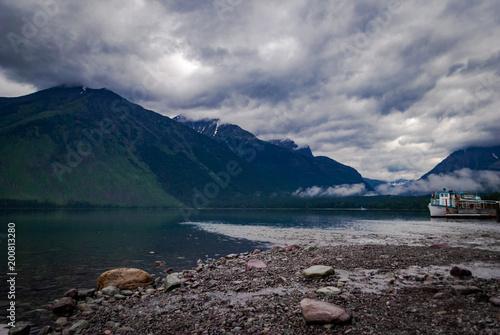 Fotografia, Obraz  Boat on Lake McDonald, Glacier National Park