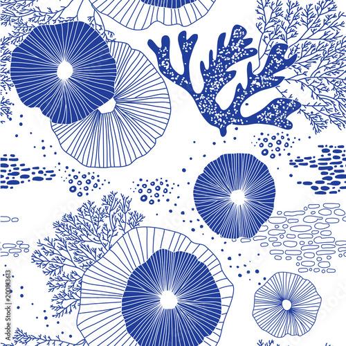 Cuadros en Lienzo Hand drawn seamless vector pattern