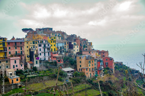 Spoed Foto op Canvas Liguria Landscape of cinque terre