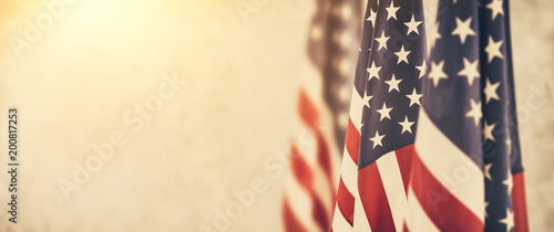 Fotografia American flag for Memorial Day, 4th of July, Labour Day